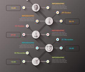 Minimal templates of Infographics vector