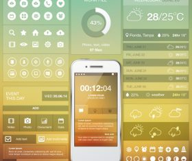 Mobile APP screen design vector