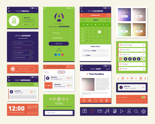 Mobile application screen infographic template vector