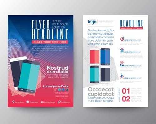 Mobile phone sales brochure vector