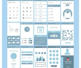 Mobile screen templates design vector