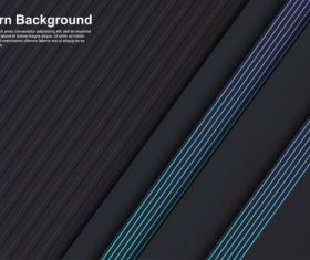 Modern design dark background with colored elements vector