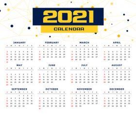 Modern simple style new year calendar template vector