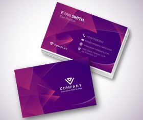 Modern template business card design vector