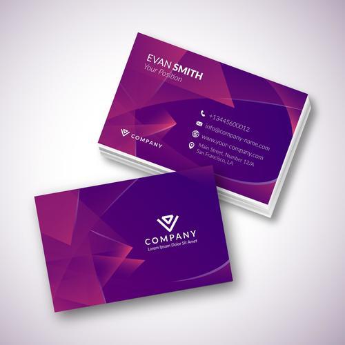 Modern template business card design vector