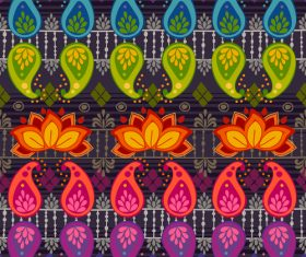 Multicolored seamless background pattern vector