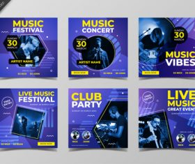 Music nightclub poster design vector