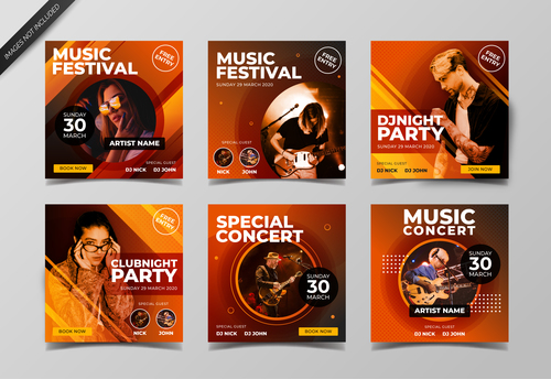 Music people poster design vector