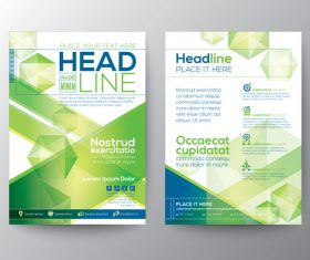 New flyer templates of brochures vector