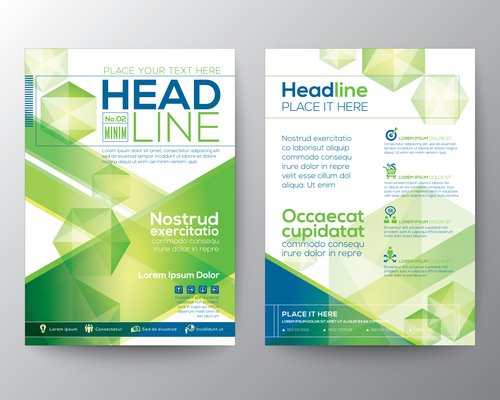 New flyer templates of brochures vector