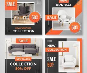 New season furniture collection vector