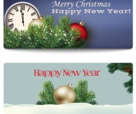 New year and christmas illustrations vector