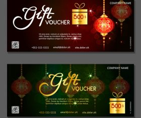 New year gift card voucher vector