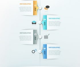 Node templates of Infographics vector