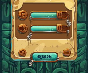 Options game interface design vector