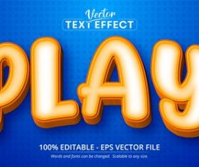Orange 3d editable text style effect vector