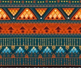 Orange green seamless background pattern vector