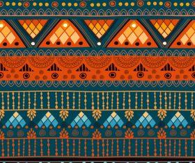 Orange green seamless background pattern vector