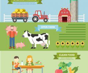 Organic farm concept flat vector
