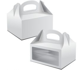 Packaging box with window vector