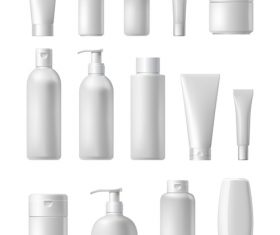 Packaging cosmetics vector
