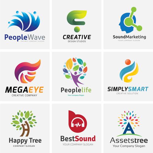 People wave logo vector