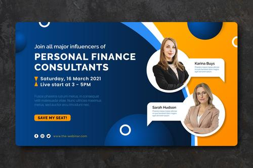 Personal finance consultants template vector