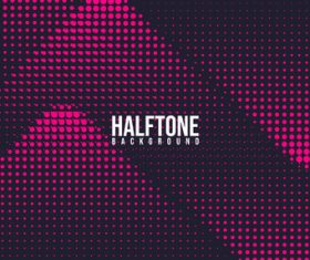 Pink black halftone background vector