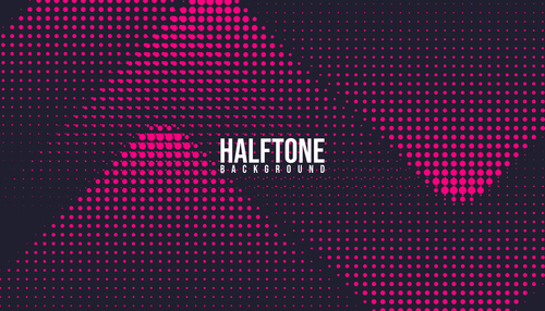 Pink black halftone background vector