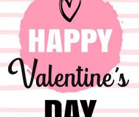 Pink valentine card vector