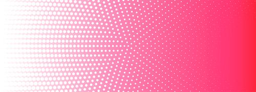 Pink white circular halftone pattern background vector