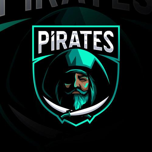 Pirates game mascot design vector