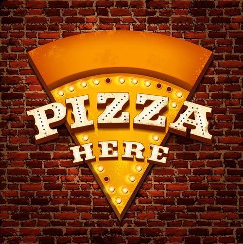 Pizza creative billboard vector
