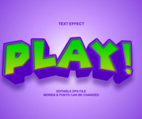 Play text effect vector