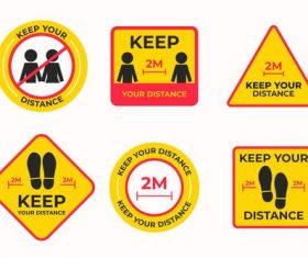 Please keep social distance vector