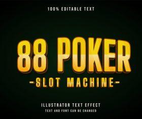 Poker 3d editable text vector
