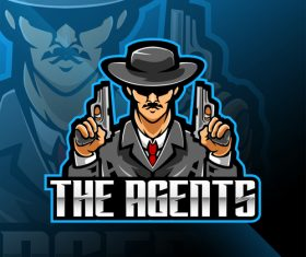 Police detective game icon design vector