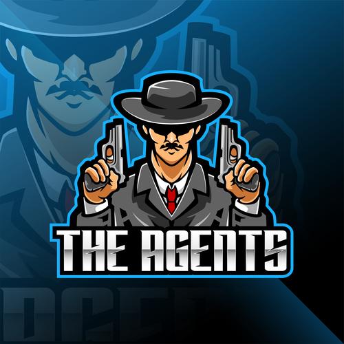 Police detective game icon design vector