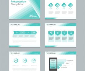 Presentation template business chart information vector