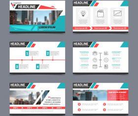 Presentation templates vector