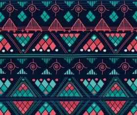 Pretty aztec ethnic seamless pattern vector