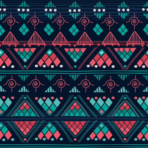 Pretty aztec ethnic seamless pattern vector