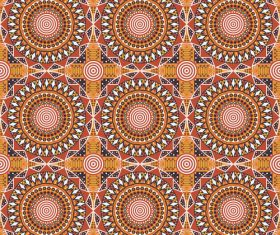 Pretty geometric ornamental seamless pattern vector