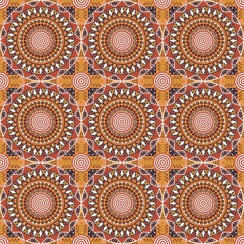 Pretty geometric ornamental seamless pattern vector