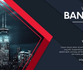 Professional website banner vector