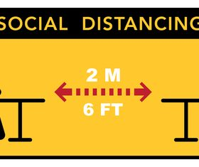 Protect yourself pay attention to social distance vector