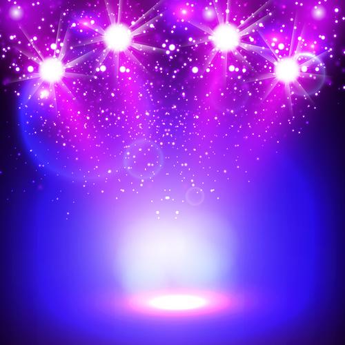 Purple bright lights vector