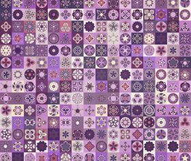 Purple seamless pattern ethnic ornament design vector