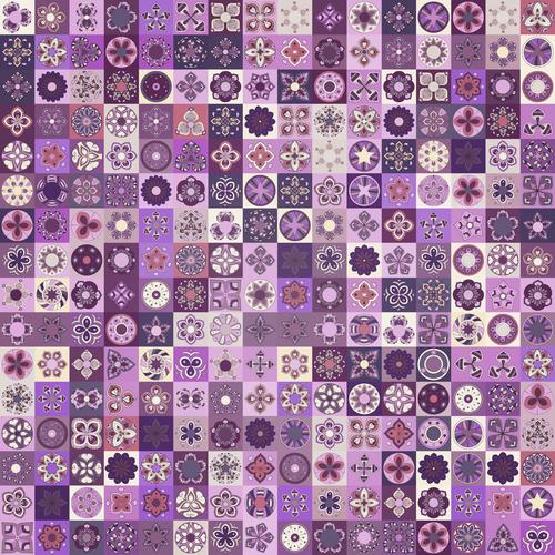Purple seamless pattern ethnic ornament design vector
