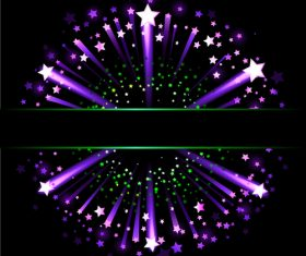Purple stars vector